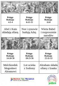 Przykładowe karty do gry Bohaterowie Księgi Rodzaju